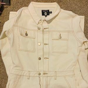 White Denim jumpsuit NEW